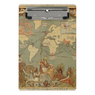 Carte antique du monde mini porte-bloc