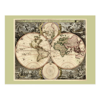 Carte antique du monde par Nicolao Visscher, circa