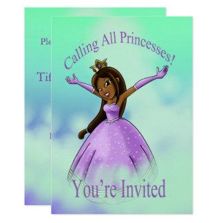 """Carte """"Appelant toutes les princesses Birthday"""