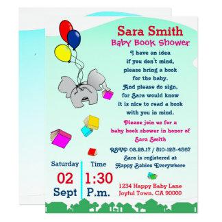 Carte Apportez un baby shower de livre