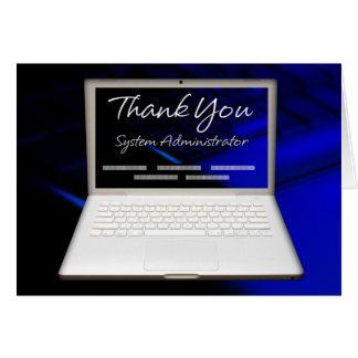 Carte appréciation et Merci de l'administrateur 43System