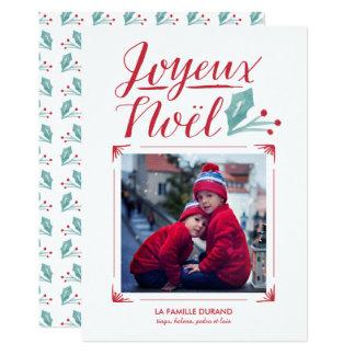 Carte Aquarelle et Calligraphie | Joyeux Noël