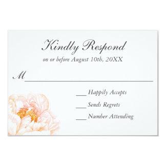 Carte Aquarelle rose luxuriante RSVP floral de pivoines