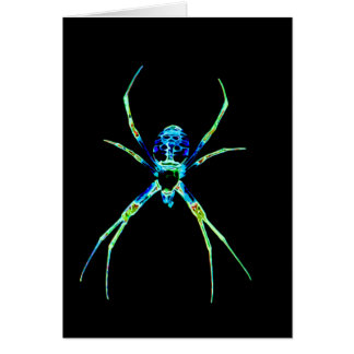 Carte Araignée au néon