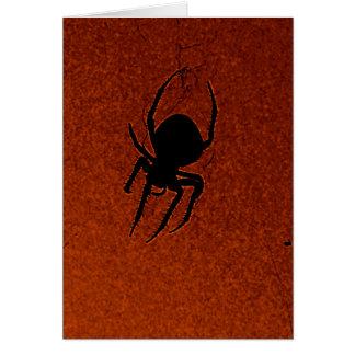 Carte Araignée de Halloween