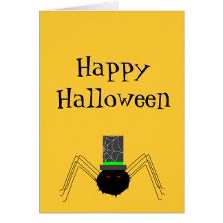 Carte Araignée éffrayante