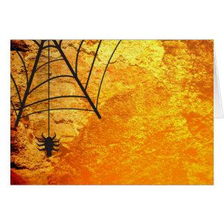 Carte Araignée et citrouilles de Halloween