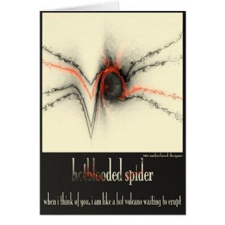 Carte araignée passionnée