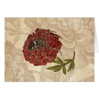 Carte Araignée sur la fleur