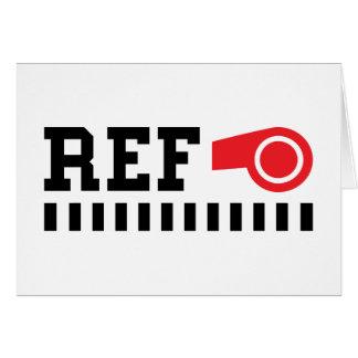 Carte Arbitre - référence - conception avec le