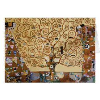 Carte Arbre de Gustav Klimt de la vie
