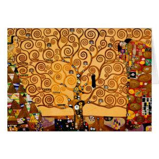 Carte Arbre de la vie par des beaux-arts de Gustav Klimt