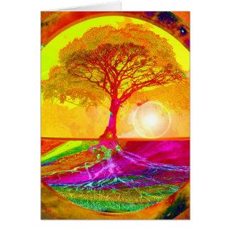 Carte Arbre de lever de soleil de la vie