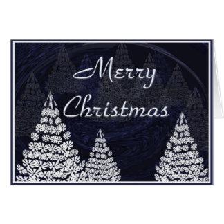 Carte Arbres de Noël stylisés