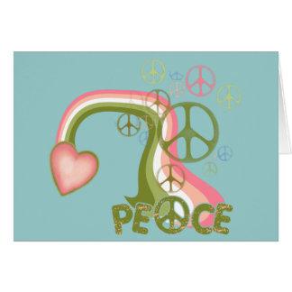 Carte Arc-en-ciel de paix
