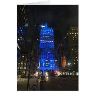 Carte Architecture de photo de la nuit NYC Park Avenue