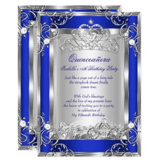 Carte Argent bleu profond de 15ème partie de princesse