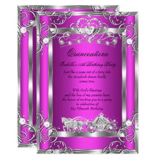 Carte Argent rose de 15ème partie de princesse