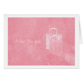 Carte Argent rose Girly de coup de filet inclus