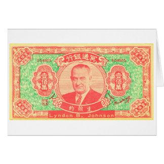 Carte Argent vintage Lyndon Johnson Vietnam de Joss de