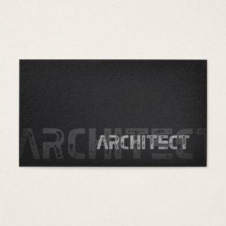 Carte argentée simple simple d'architecte de motif