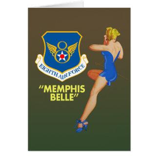 """Carte Armée de l'Air """"de belle de Memphis la 8ème"""""""