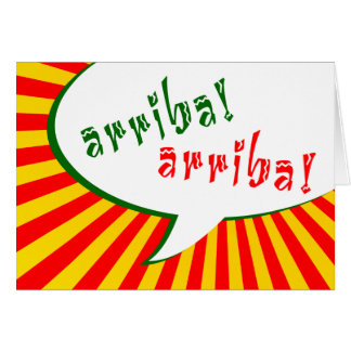 Carte arriba ! arriba ! : bulle comique de la parole