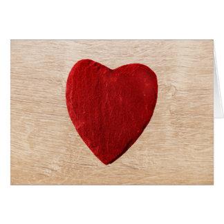Carte Arrière-plan de bois coeur