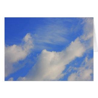 Carte Arrière - plan de ciel bleu