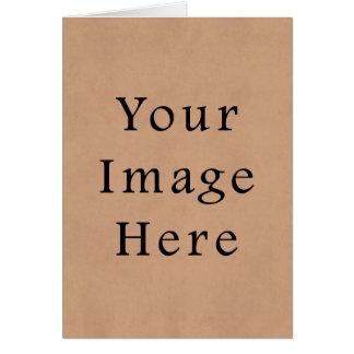 Carte Arrière - plan en cuir vintage de papier