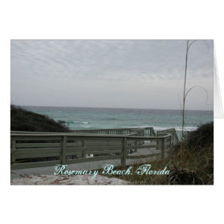 Carte Arrivée de plage de Rosemary !