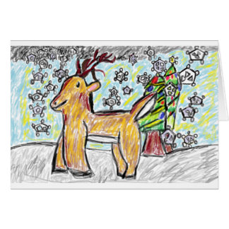 Carte Art 2 de cerfs communs
