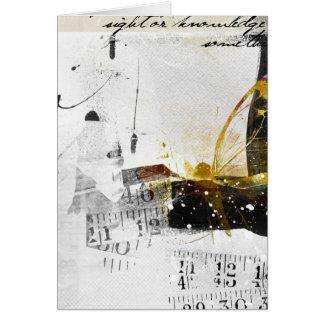 Carte art abstrait de rêves cassés
