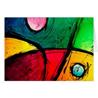 Carte Art acrylique abstrait lumineux super