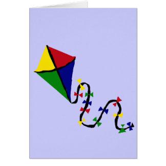 Carte Art coloré de vol de cerf-volant
