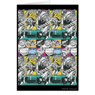 Carte Art comique jaune et vert