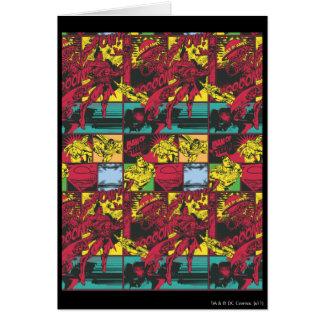 Carte Art comique rouge et jaune