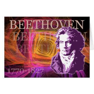 Carte Art de bruit de Ludwig van Beethoven Portait