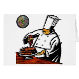 Carte Art de chef de pâtisserie