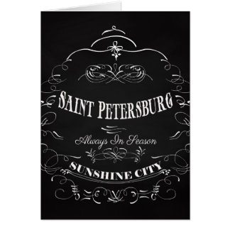 Carte Art de la Floride de St Petersbourg - toujours de