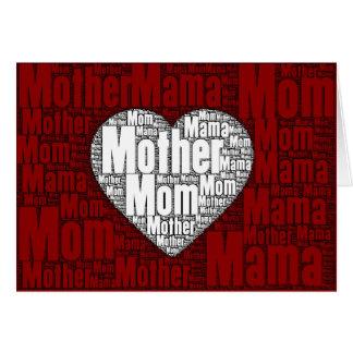 Carte Art de mot : Valentine pour la mère
