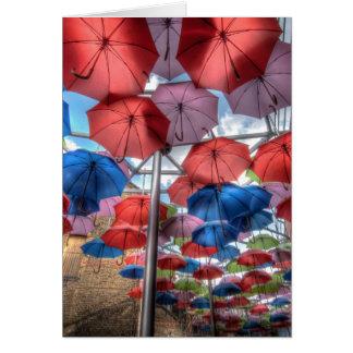 Carte Art de parapluie du marché de ville, Londres