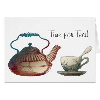Carte Art de pot de thé et de tasse de thé