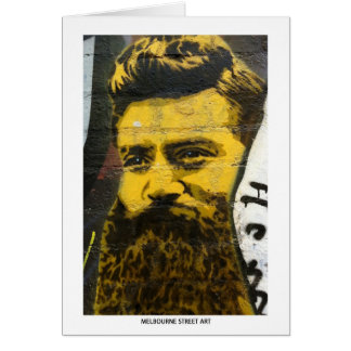 Carte Art de rue de Melbourne/graffiti - Ned Kelly