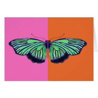 Carte Art déco Butterly avec le colorblock