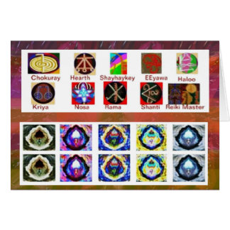 Carte Art d'image MULTIPLE - Reiki Karuna holistique
