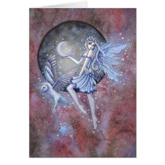 Carte Art d'imaginaire de fée et de hibou de collecteurs