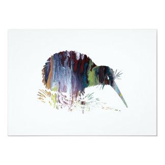 Carte Art d'oiseau de kiwi