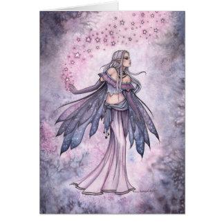 Carte Art féerique capturé d'aquarelle d'imaginaire