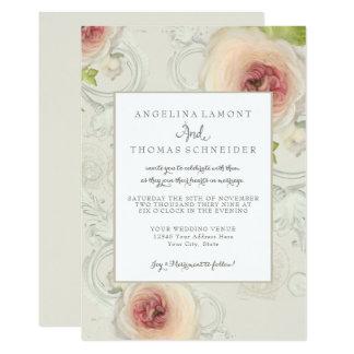 Carte Art floral de pivoine de fleur élégante moderne de